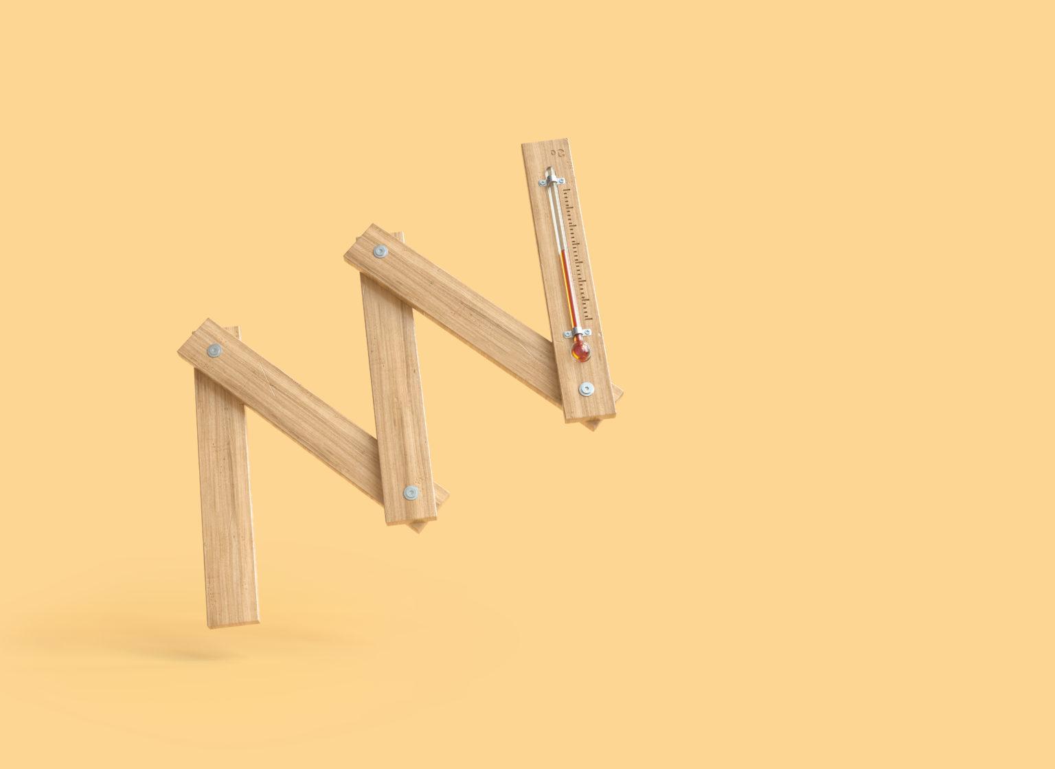 Heizungsmonteure, Elektriker und andere Partner sind durch ein 3D Bild eines Meters-Thermometers angesprochen.